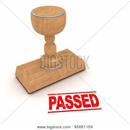 Rubber Stamp - Passed