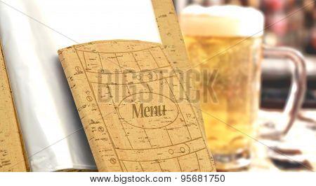 Beer Menu In A Restaurant