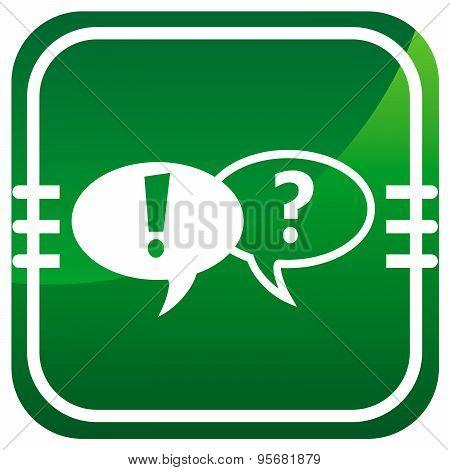 Forum Green Web Icon