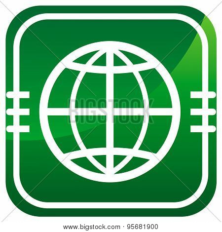 Earth Round Icon.