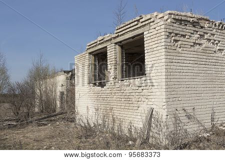 Fragment Of The Destroyed Brick Building