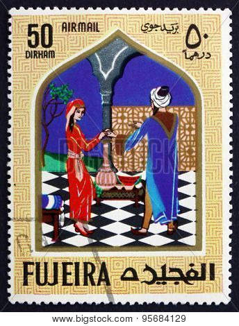 Postage Stamp Fujeira 1967 Aladdin And The Magic Lamp