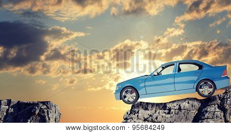 Car on mountain top