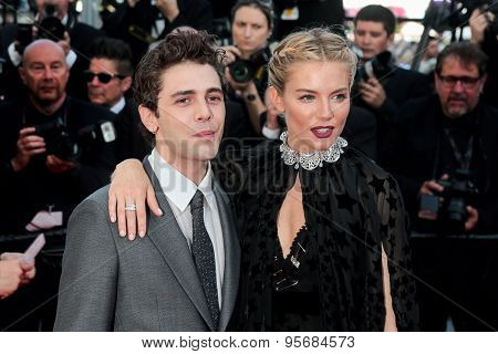 Xavier Dolan and Sienna Miller attend the 'Carol' premiere during the 68th annual Cannes Film Festival on May 17, 2015 in Cannes, France.