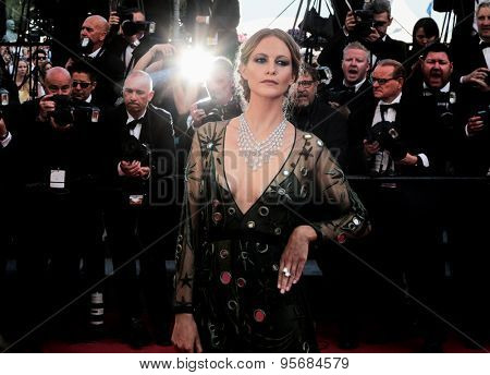 Poppy Delevingne attends the 'Carol' premiere during the 68th annual Cannes Film Festival on May 17, 2015 in Cannes, France.