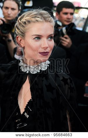 Sienna Miller attend the 'Carol' premiere during the 68th annual Cannes Film Festival on May 17, 2015 in Cannes, France.