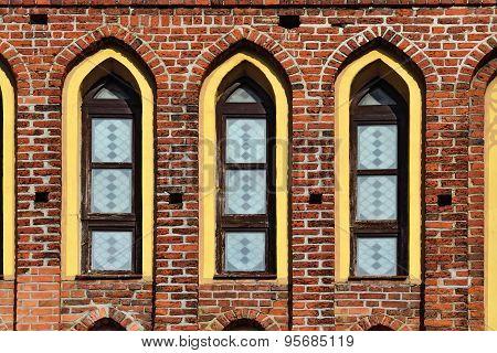Koenigsberg Cathedral, Facade Fragment. Kaliningrad, Russia