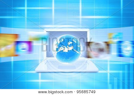 Virtual Earth on laptop