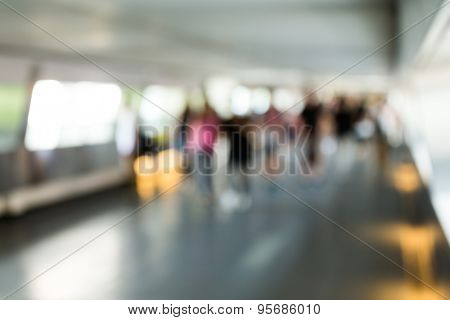 Bokeh view of commercial district background