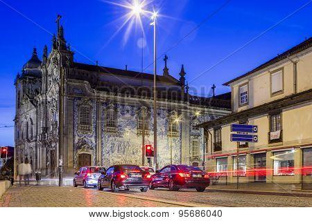 PORTO, PORTUGAL - JULY 04, 2015: Carmelitas Church And Carmo Church In The Evening, In Porto.