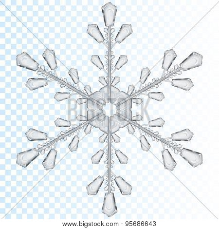 Transparent Snowflake. Translucent Only In Vector File