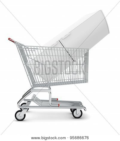 Fridge in shopping cart