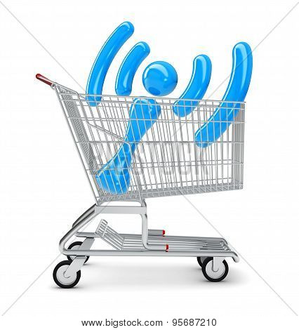 Wi-fi sign in shopping cart