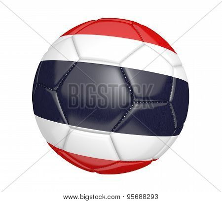 Soccer ball with the country flag colors of Thailand