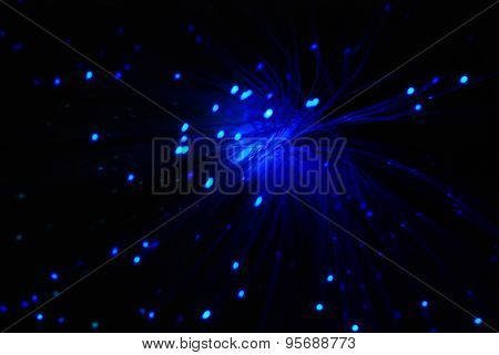 Blue Optic Fiber