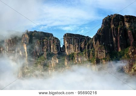 Amazing Rocks Behind Cloud - Beautiful Natural View