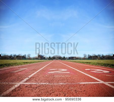 Athlete Track or Running Track with three numbers (1st, 2nd and 3rd) good for business or motivation designs or graphic posters and meme images