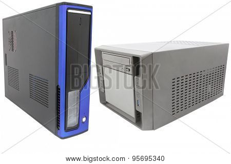 central processing unit isolated under the white background