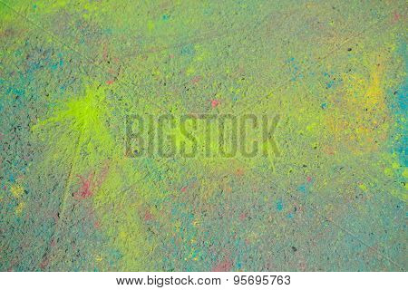 Background Of Colorful Holi Powder
