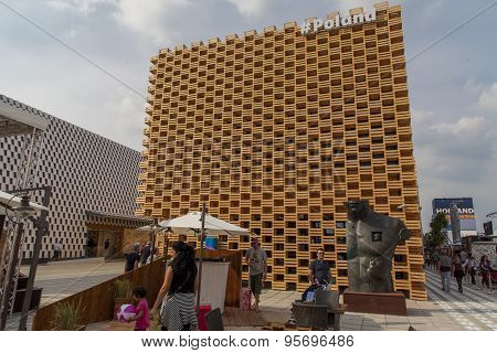 Poland Pavilion At Expo 2015 In Milan, Italy