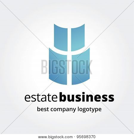 Abstract window logotype concept isolated on white background. Key ideas is business, abstract, wind