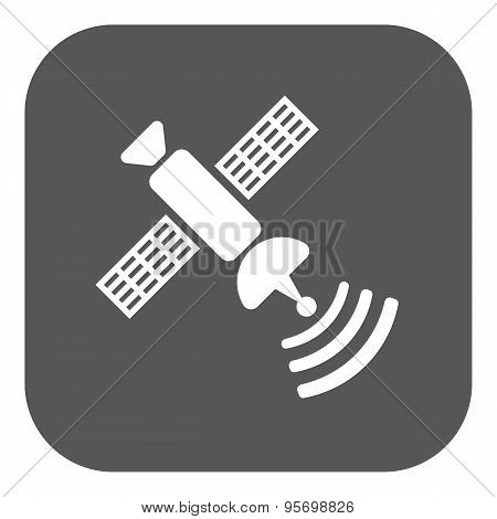 The Satellite Icon. Tv And Broadcasting, Communication Symbol. Flat