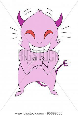 cartoon devil giggle