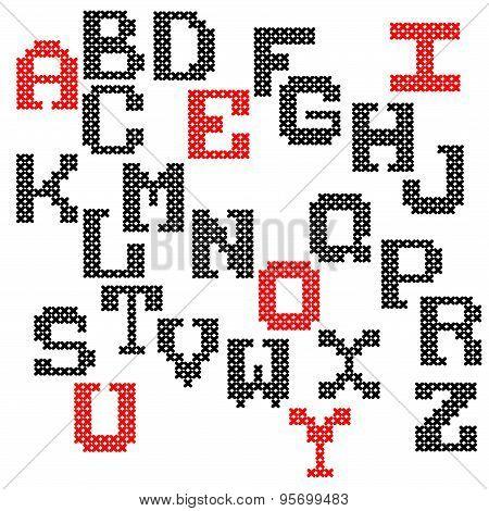 Decorative vector alphabet hand-drawn.