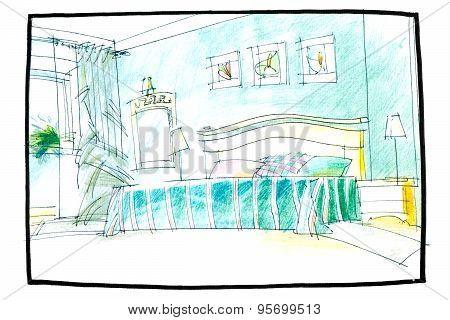 Sketch Of A Bedroom