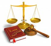 stock photo of law-books  - Golden weight scales - JPG