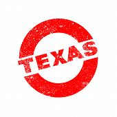image of texans  - A rubber ink stamp with the text texas - JPG