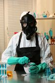 image of overdose  - Chemist working in drug laboratory - JPG