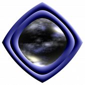 Large Blue Space Button poster