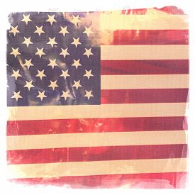 stock photo of labor  - Instagram filtered image of American Flag for 4th of july - JPG