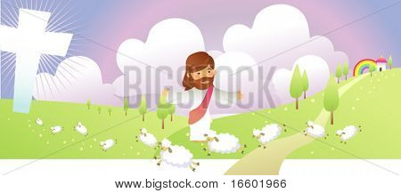 jesus loves his sheep