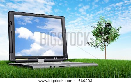Laptop Computer Outdoors