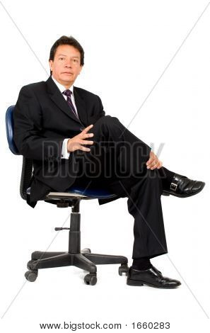 Business Boss Sitting Down