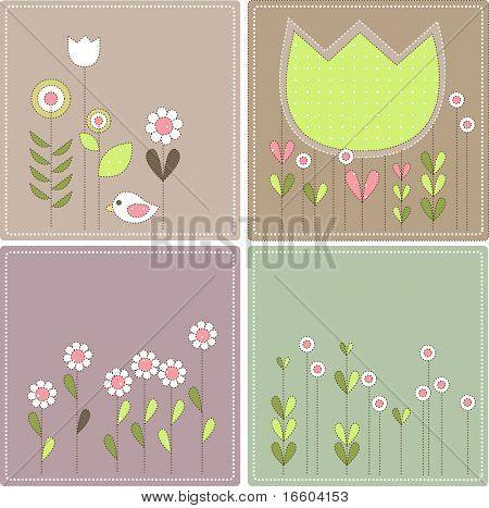 vintage flower design