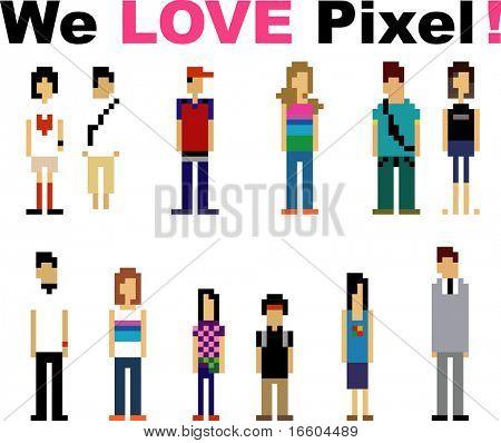 Pixel-Völker