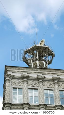 Beautiful Building In Kiev With Antenna