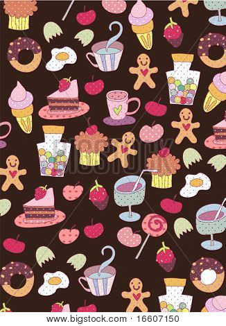 cute food wallpaper design