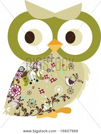 decorated owl character