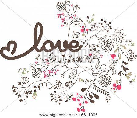 love concept floral design