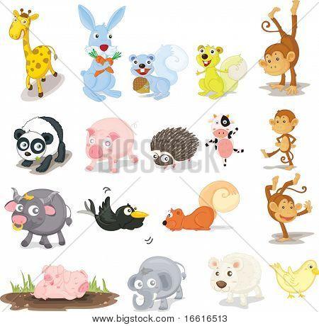 Illustration of a variety of animals