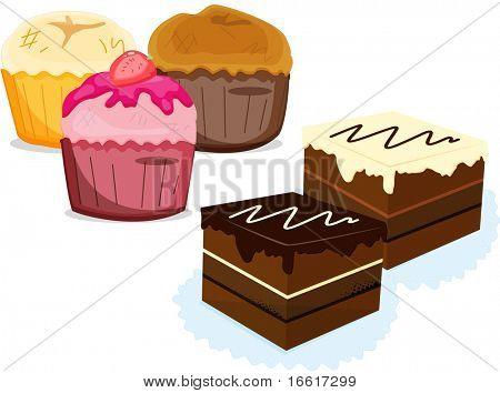 an illustration of a range of deserts