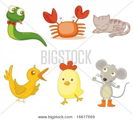 an illustration of assorted animals