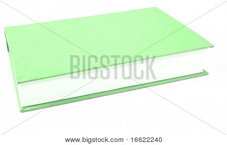 isolated plain hardback book on white