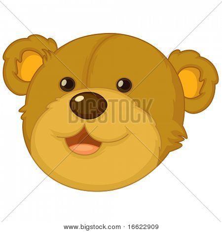 Ilustración de la cara del oso de peluche