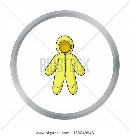 Baby bodysuit icon in cartoon style isolated on white background. Baby born symbol vector illustration. - stock vector