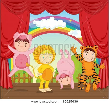 kids on stage (vector available in portfolio)
